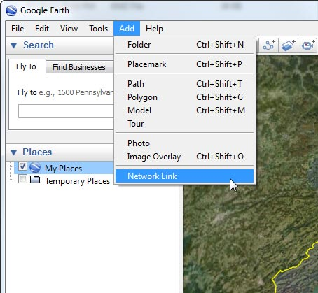 64: Adding Network Link in Google Earth – FSX TIMES