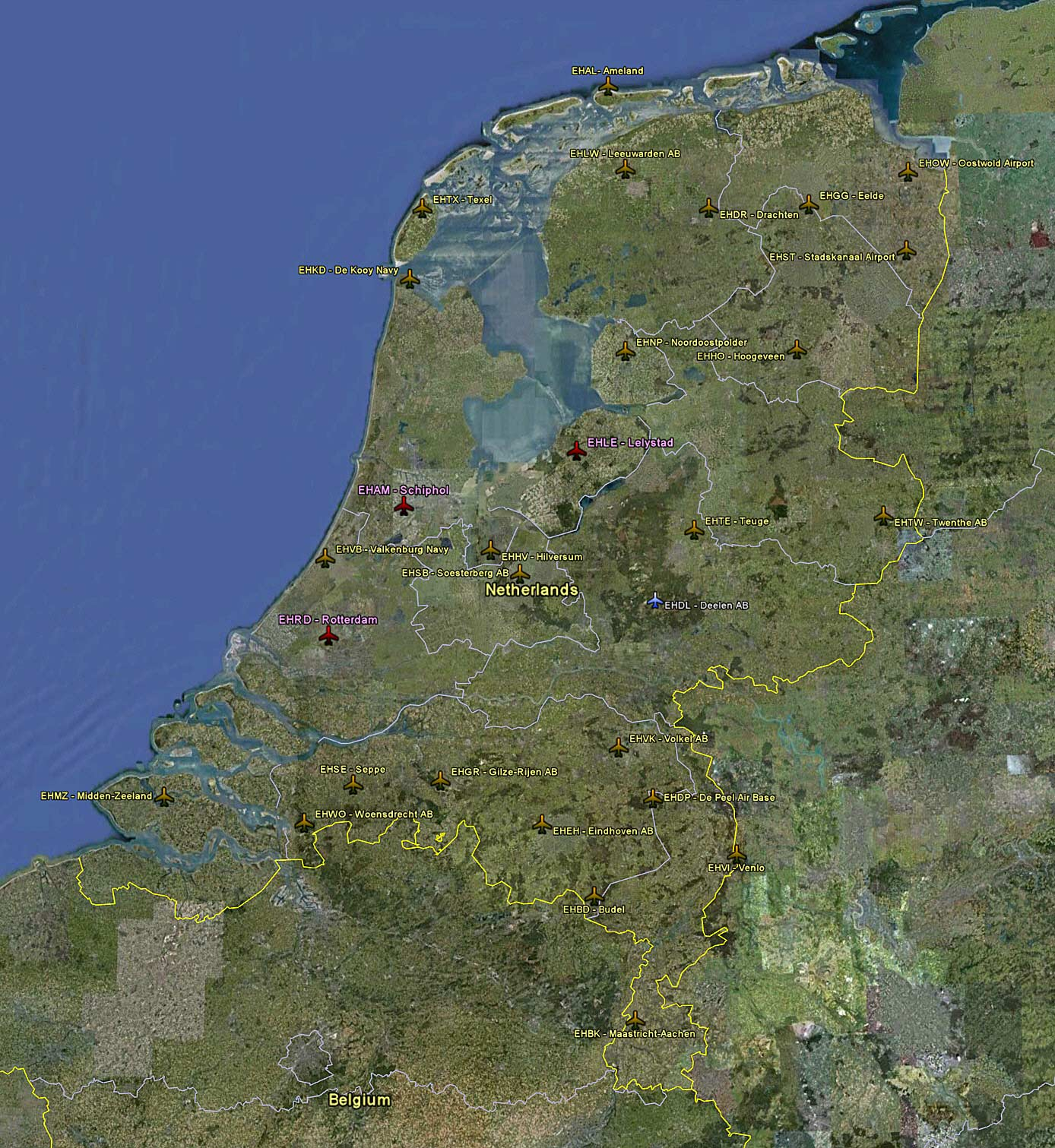 65 Maps Netherlands Airports FSX TIMES