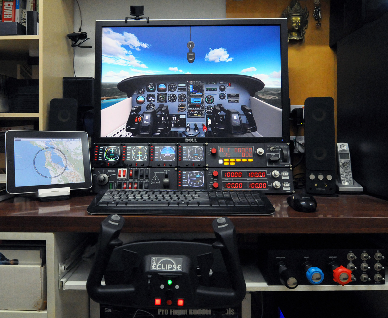 Home flight simulator set up - Where I