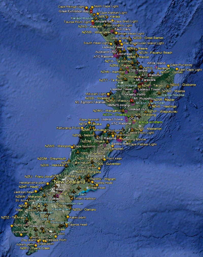 164 Maps  New Zealand Complete  FSX TIMES