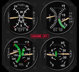 207: Five C172 Gauges on 3rd Anniversary Day – FSX TIMES