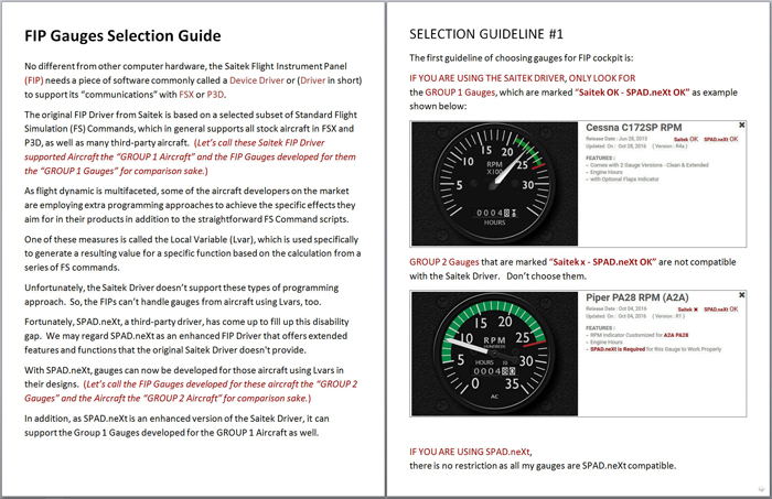 402: FIP Gauges Selection Guide – FSX TIMES